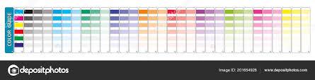 Cmyk Color Chart Use Prepress Printing Used Pick Color
