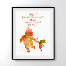 Winnie The Pooh Quote Art Print Poster