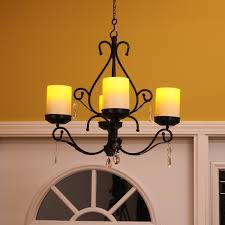 charleston flameless candle chandelier sconces bo pacific accents