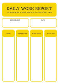 Simple Report Template Yellow Simple Daily Report Templates By Canva