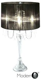 droplet table lamps bedside new crystal 4 light lamp black shade florence glass