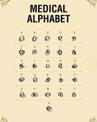 The Medical Alphabet For Those Hard To Read Doctors Notes 9gag
