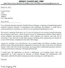 Sample Cover Letter Project Manager Brilliant Ideas Of Resume Letter