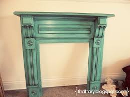 diy faux fireplace mantel found on thriftary blo com