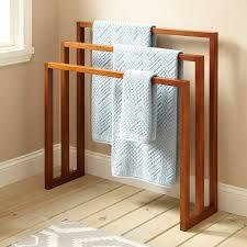Towel Hanger 35 Layla Teak Towel Hanger With 3 Levels Bathroom