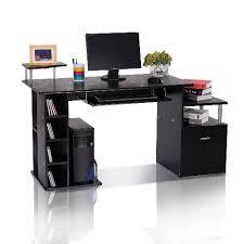desktop computer table. HOMCOM Wood Computer Desk With Drawer Shelves Black : Desks \u0026 Workstations - Best Buy Canada Desktop Table P