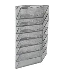 hanging magazine rack. Contemporary Hanging EasyPAG Office 8 Pocket Wall File Holder Organizer Hanging Magazine Rack Silver And L