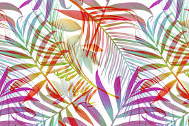 Patterns Simple Tropical pattern Jungle palm leaves Graphic Patterns Creative