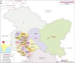Jammu And Kashmir District Map