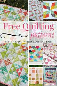 Quilting for Beginners: 21 Simple Quilt Patterns | FaveQuilts.com & 900+ Free Quilting Patterns Adamdwight.com