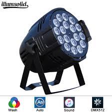 Dj Led Par Light Us 61 2 10 Off 18x12w Led Par Lights Rgbw 18x12w Rgbw Par Led Dmx512 Disco Lights Professional Stage Dj Equipment In Stage Lighting Effect From