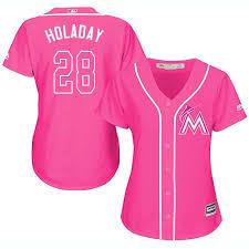 Majestic Replica Bryan Holaday Womens Pink Mlb Jersey 28