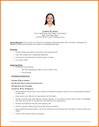 Objective On A Resume Examples Cv Career Objective Example Resume Career Objective Resume For 6