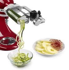 kitchenaid vegetable sheet cutter. kitchen aid attachment kitchenaid vegetable sheet cutter ksm1apc spiralizer with peel core
