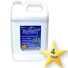 brillianté crystal cleaner gallon refill bottles 4 pack