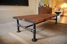 diy coffee table plumbing pipe dining table living room painted coffee table ideas