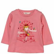 Beebay Size Chart 100 Cotton Funtime Girl Print T Shirt Pink