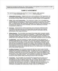 Service Agreement Samples Free 7 Service Contract Form Samples In Sample Example Format