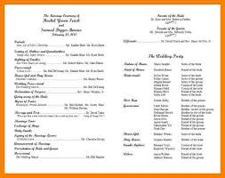 sample wedding program wording 8 sample wedding program wording packaging clerks
