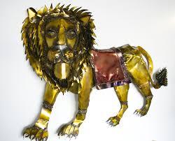 duga s lion hanging metal wall sculpture