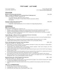 Mba Resume Samples Resume Samples