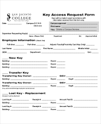 Access Order Form Template Sample Key Request Form 10 Examples In Word Pdf