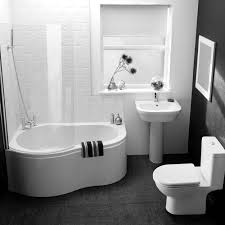 Black And White Bathroom Black White Striped Wall And Yellow Wooden Mirror Connected By