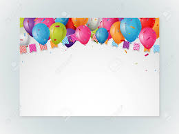 Balloon Birthday Card Design Happy Birthday Greeting Card Design With Balloons And Confetti