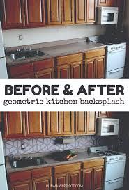 Painting Kitchen Backsplash How To Paint A Geometric Tile Kitchen Backsplash