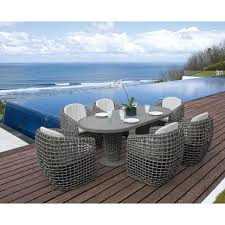 skyline design outdoor furniture. dynasty outdoor dining collection with oval table lo22460 skyline design furniture