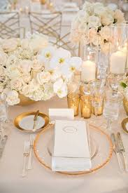 white table settings. White And Gold Wedding Table Settings 7238