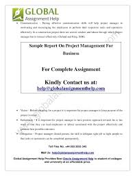 sample report on project management for business by global assignmen   13
