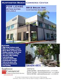 office space for lease flyer huntington commerce center industrial and office space for lease