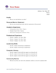 Academic Resume Template Classy Academic Resumes
