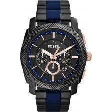 fs5164 machine fossil men watch watches2u fossil fs5164 mens machine two tone steel chronograph watch
