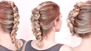 Coiffure Cheveux Mi Long Tresse Chignon Coiffure En Image