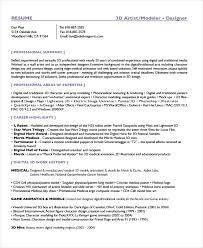 Artist Resume Template 7 Free Word Pdf Document