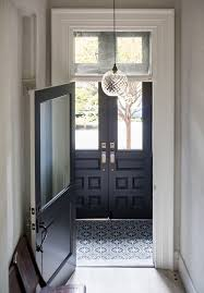 small entryway lighting. moroccan cement tiles make this entryway in a uniquely renovated brooklyn brownstone small lighting