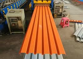 orange color powder coated corrugated steel roofing sheets corrugated metal panels