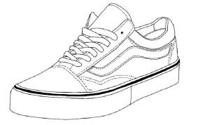 Girls shoes coloring pages beautiful coloring girls shoes for kids to printable coloring shoes pictures free to print. Vans Shoes Coloring Pages Sneakers Drawing Shoes Drawing Vans