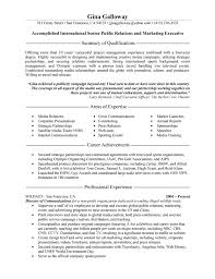 Examples Of Public Relations Resumes Public Relations Executive Resume Example