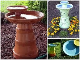 clay pot bird bath 2 wonderful diy easy birdbath