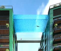glass bottom pool houston glass bottom pool hotel a bottomed swimming will bridge two buildings in