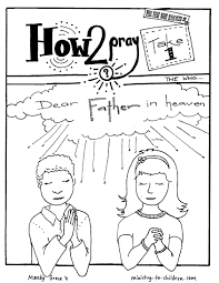 Free Printable Lords Prayer Coloring Pages Color Bros