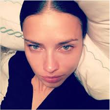 supermodel adriana lima went without makeup as she snapped this selfie during a low key