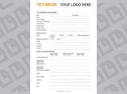 Sample Talent Release Form TVVideo Production Brief Template And Examples Tick Boxer 17
