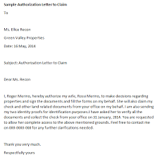 Write Authorization Letter Letter Of Recommendation