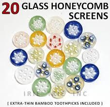 20 glass honeycomb screens vape slides bowls pipes bongs gift usa free ship