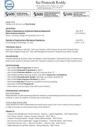 Statistical Programmer Sample Resume