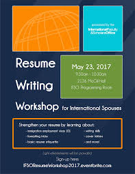 Resume Writing Workshop For International Spouses Tickets Tue